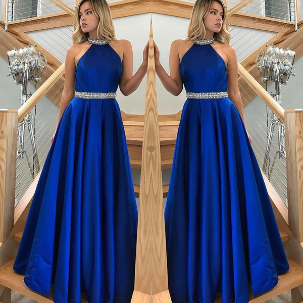 rhinestones-a-line-royalblue-satin-long-prom-dresses