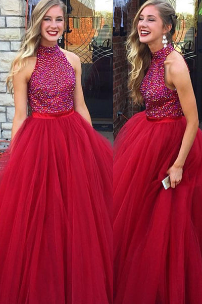 rhinestones-bodice-sleeveless-red-formal-prom-gown-with-tulle-skirt
