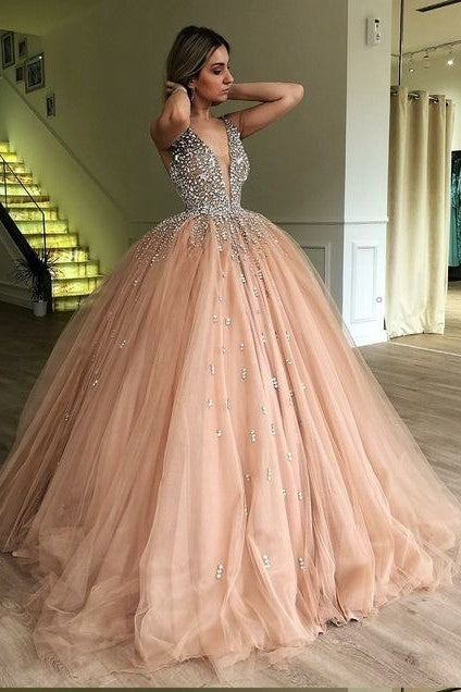 rhinestones-champagne-ball-gown-prom-dress-with-deep-v-neckline