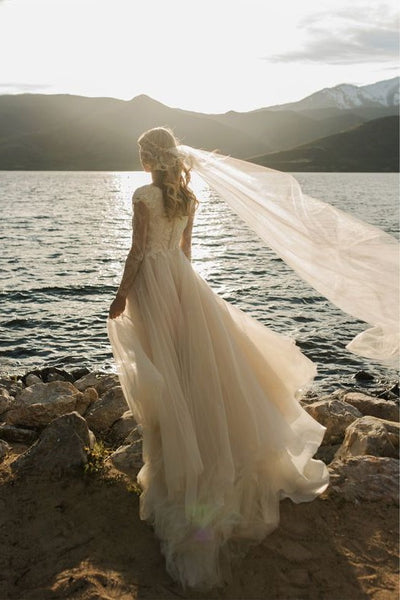 romantic-champagne-wedding-dress-with-lace-long-sleeves-1