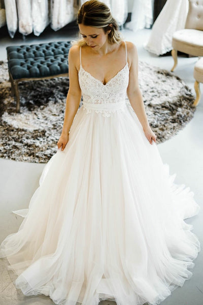 romantic-princess-style-wedding-dresses-with-spaghetti-straps