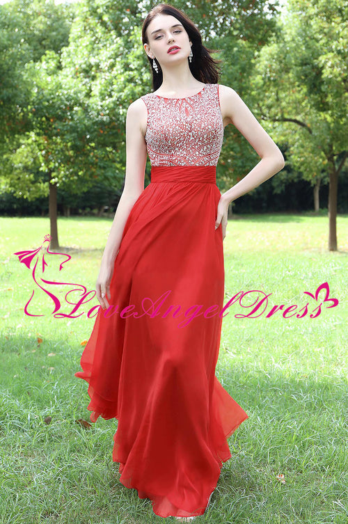 round-neck-red-long-chiffon-rhinestones-prom-dresses