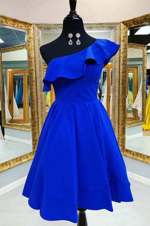 royal-blue-homecoming&graduation-gown-with-flounced-one-shoulder
