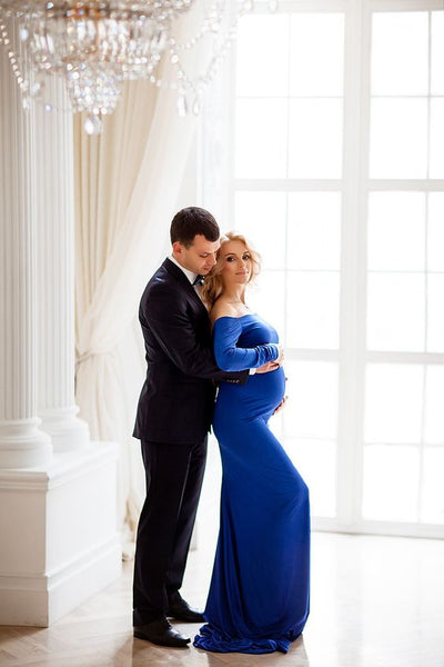 royal-blue-maternity-photoshoot-dress-long-pregnancy-dresses-with-sleeves-2