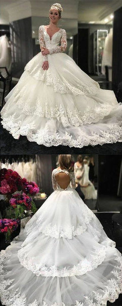 royal-court-princess-ball-gown-wedding-dress-with-long-lace-sleeves-3
