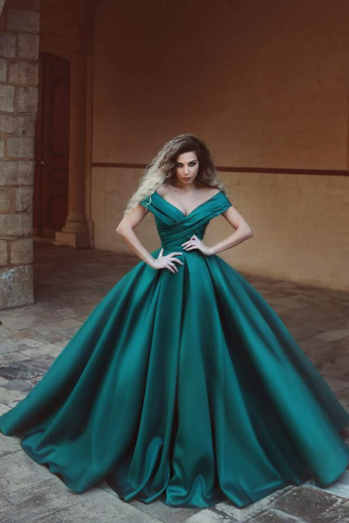 ruched-off-the-shoulder-satin-prom-dresses-online