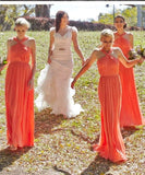 ruching-orange-chiffon-bridesmaid-dresses-with-halter-neckline-2