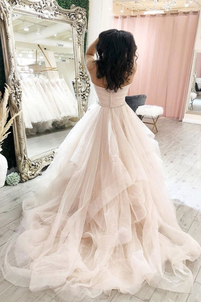 ruching-sweetheart-tulle-bride-dresses-with-jewellery-belt-1
