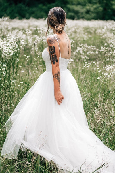 ruching-tulle-boho-wedding-gown-with-sheer-insert-neckline-1