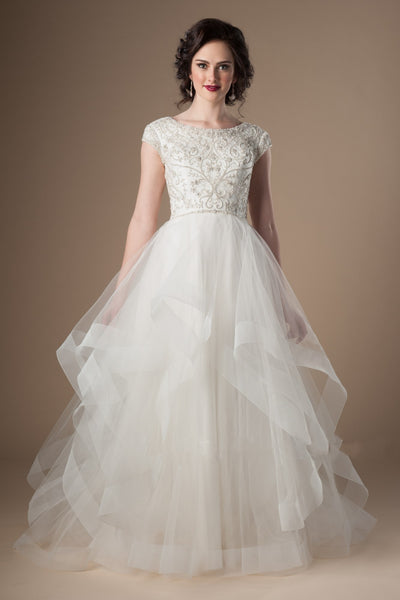 ruffles-tulle-ivory-wedding-dress-with-crystals-cap-sleeves