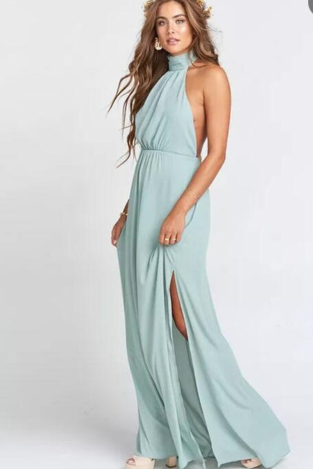 Dream Long Chiffon Bridesmaid Dress with Ruched Bodice