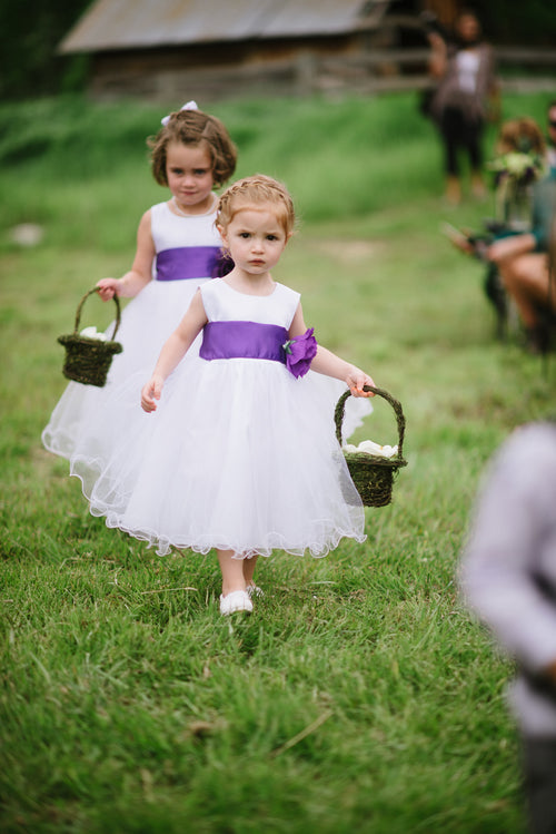 satin-and-tulle-flower-girl-dress-with-purple-flower-sash