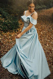 satin-light-blue-prom-gowns-with-folded-neckline-1