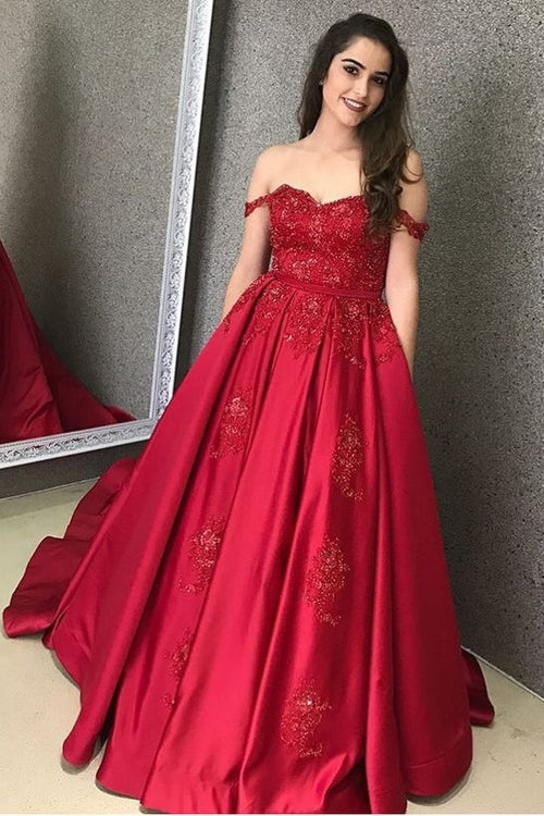 94185701752c satin-red-evening-gown-with-beaded-lace-bodice
