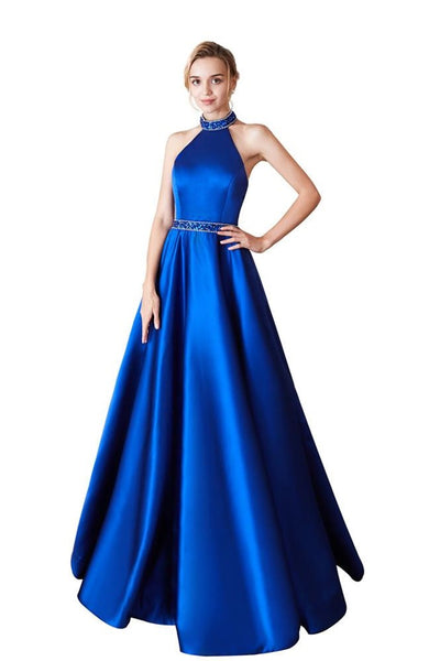 satin-royal-blue-prom-dress-beaded-halter-neckline-2
