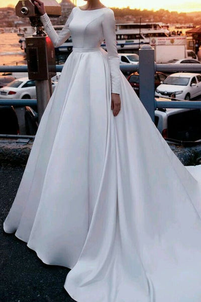satin-royal-inspired-cathedral-train-wedding-gowns-long-sleeves-1