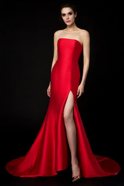 satin-strapless-red-evening-gown-mermaid-style