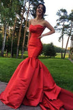 satin-strapless-red-mermaid-dress-for-prom-with-open-back