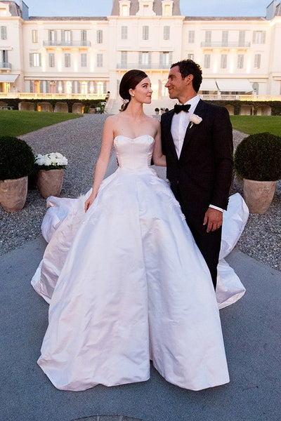 satin-strapless-spring-wedding-dress-with-long-train