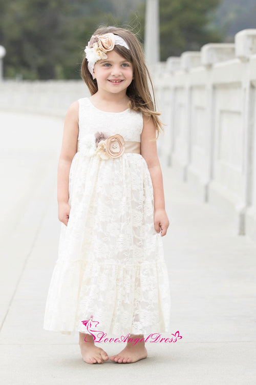 scoop-neck-ankle-length-ivory-lace-baby-girl-dresses-with-flower-belt