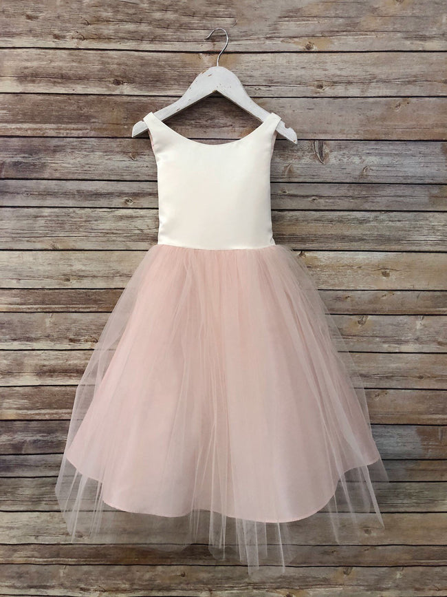 51f165350f scoop-neck-ivory-champagne-flower-girl-dress-with-