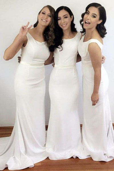 scoop-neck-ivory-wedding-guests-dresses-custom-made