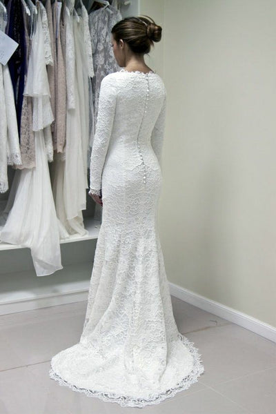 scoop-neck-lace-winter-modest-wedding-dress-long-sleeves