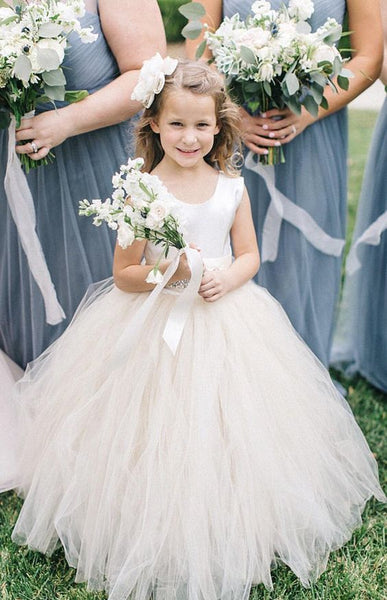 scoop-neck-tulle-and-satin-flower-girl-dress-with-rhinestones-belt