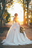see-through-lace-long-sleeves-bride-gown-dress-with-full-tulle-skirt