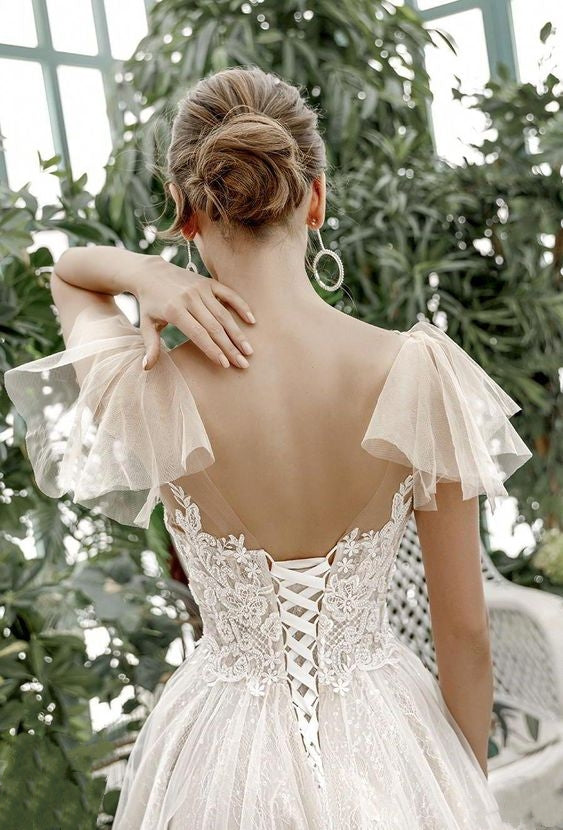 see-through-lace-wedding-dresses-with-flounced-sleeves-1