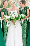 sequin-emerald-green-wedding-party-dresses-with-short-sleeves-1