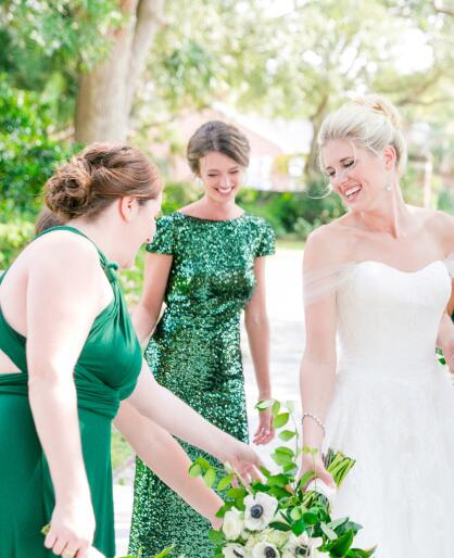 sequin-emerald-green-wedding-party-dresses-with-short-sleeves-2