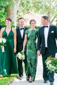 sequin-emerald-green-wedding-party-dresses-with-short-sleeves-4