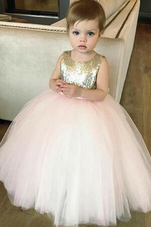 Organza Ruffles Satin Pink Flower Girl Dress Ball Gown