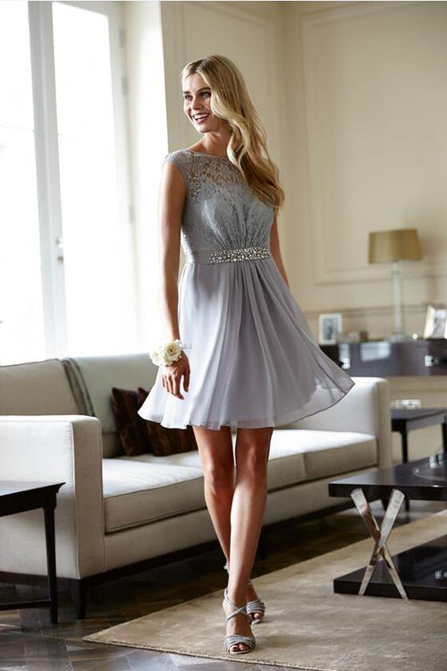 sheer-boat-neck-lace-chiffon-short-gray-cocktail-dresses