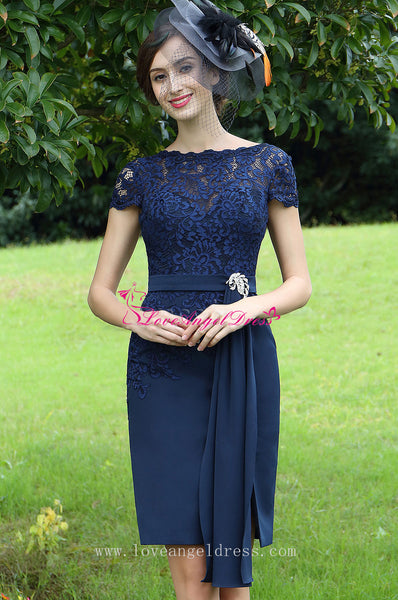 sheer-lace-bateau-neck-chiffon-navy-blue-short-bride-mother-dress-with-sleeves