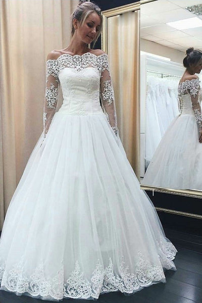 sheer-lace-long-sleeves-wedding-dresses-with-buttons-back-1