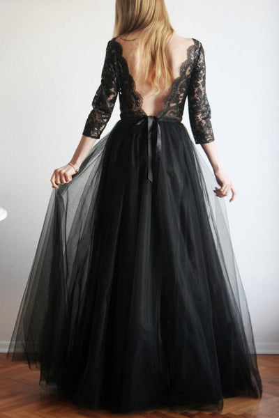 sheer-lace-tulle-black-prom-dresses-with-3-4-sleeves-1