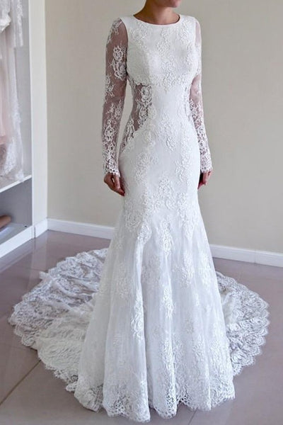 sheer-long-sleeves-lace-wedding-dresses-backless
