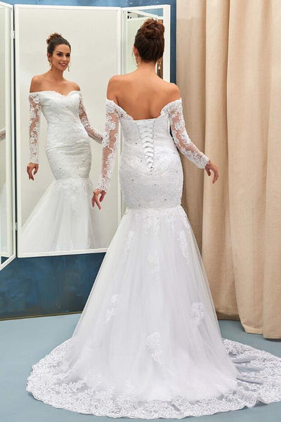 sheer-long-sleeves-lace-wedding-gown-mermaid