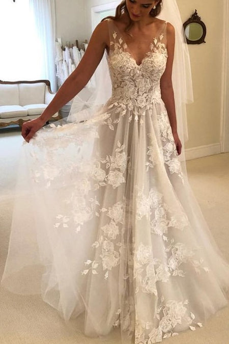 Lace Sweetheart Mermaid Bride Dresses with Ruffled Skirt