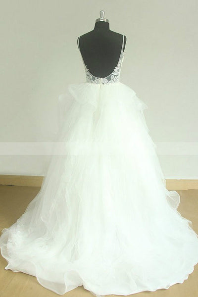 shimmering-wedding-dress-with-lace-straps-and-horsehair-trim-skirt-1