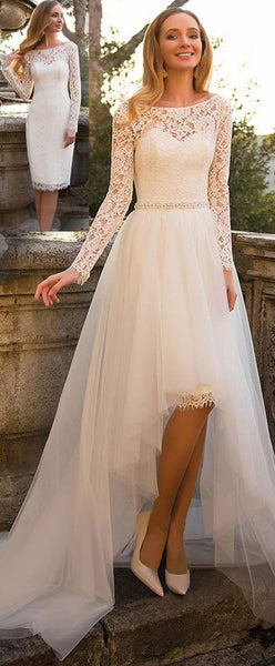 short-lace-wedding-dresses-with-detachable-tulle-skirt-2