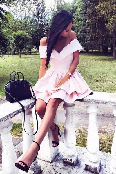 short-light-pink-homecoming-dress-with-layer-skirt-1