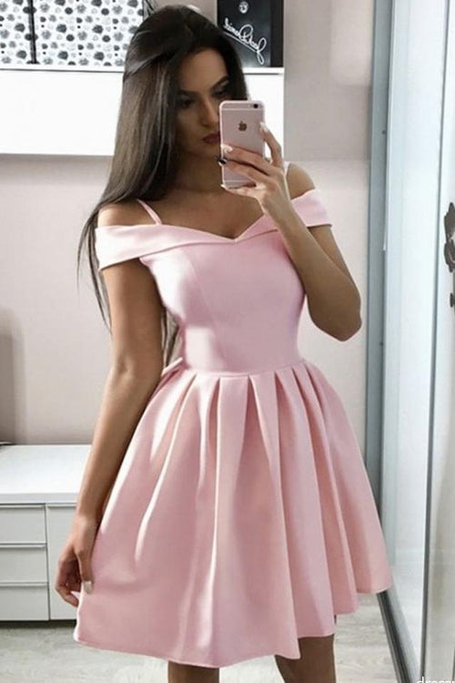 short-light-pink-homecoming-dress-with-off-the-shoulder
