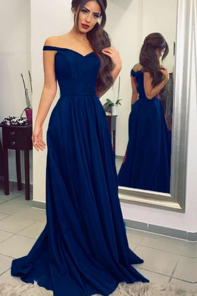 simple-dark-blue-prom-long-dresses-with-off-the-shoulder