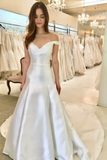 simple-satin-bridal-dress-off-the-shoulder-vestido-de-casamento
