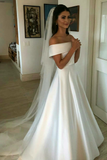 simple-satin-bridal-dress-with-fold-off-the-shoulder