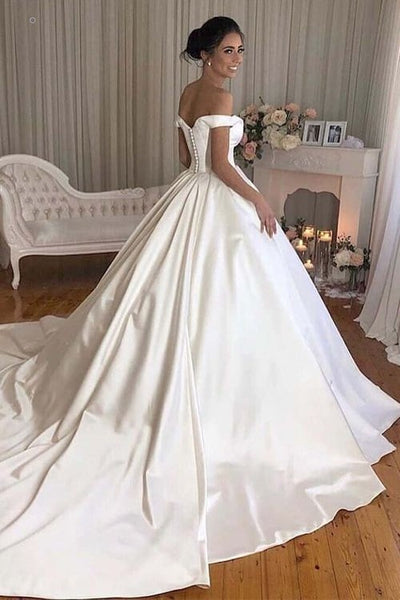 simple-satin-bridal-gowns-long-train-with-off-the-shoulder-1