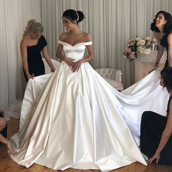 simple-satin-bridal-gowns-long-train-with-off-the-shoulder-2